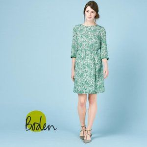 BODEN Dolly Dress Green Paisley Print Size 6R